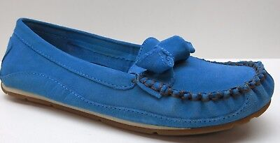 bdc09ffa89e Naturalizer Blue Suede Leather Wedge Loafer 8.5M 8.5 MSRP  79