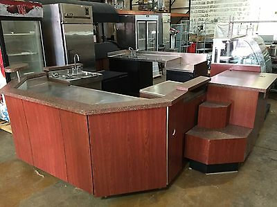 Millrock Modular Coffee Cafe Barista Counter System W/ Display Case Sink Retail