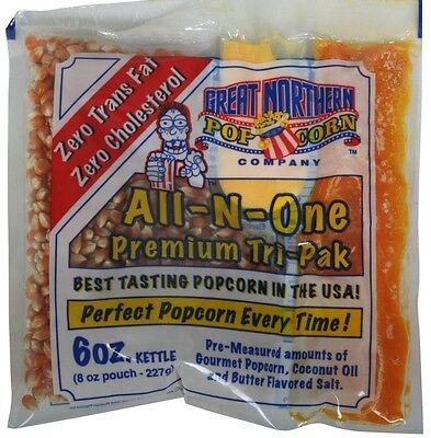 Great Northern 6 Oz Popcorn Portion Packs Case of 24 Theater Home Popper Set