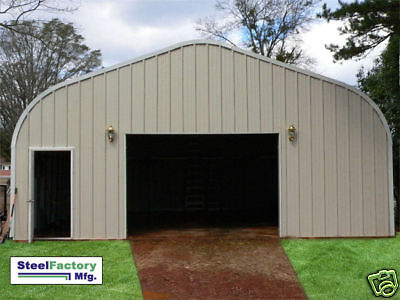 Steel Factory Prefab P30x32x15 Residential Metal Garage Workshop Building Kit