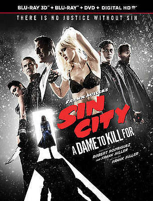 Frank Miller's Sin City: A Dame To Kill For(Blu-Ray 3D, Blu-Ray,DVD, Digital HD)