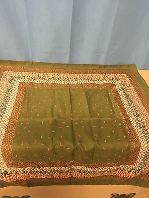 Vintage Polyester Scarf Made in Italy Brown White Orange. 402