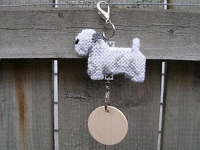 SEALYHAM TERRIER #3 Dog crate tag or hang anywhere pet art home decor ornament