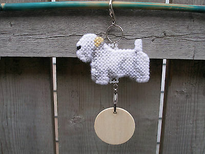 SEALYHAM TERRIER #2 Dog decorative hanging sign pet art, crate tag ornament