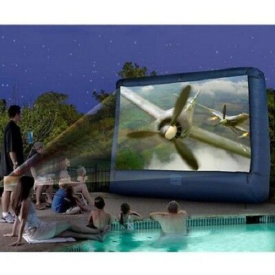 Giant Outdoor Cinema Inflatable Movie Screen 12 ft Garden Theater Yard Projector