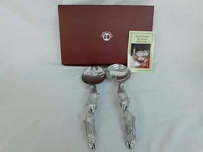 Arthur Court Fish Serving Set Spoon And Fork Aluminum New In Box