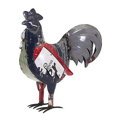 Imax Ryan the Rooster Sculpture in Reclaimed Metal 47743