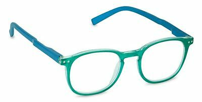 NEW Peepers Reading Glasses Strength +2.25 Island Time Aqua Blue - Free Shipping