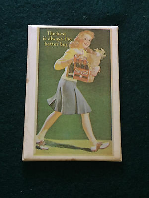 """Vintage """"The best is always the better buy"""" ad Coca Cola Pocket Mirror"""