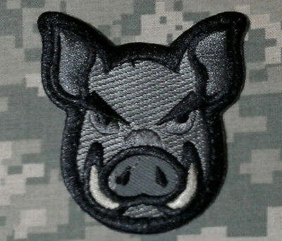 Pig Head Face Infidel Usa Army Swat Acu Us Morale Patch W Velcro® Brand Fastener