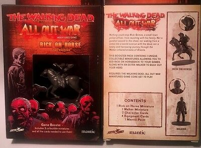 The Walking Dead - All Out War - Rick On Horse - Game Booster - Mantic Games