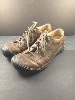 KEEN Oxfords Lace Up Shoes  Leather Brown Men's Size 11