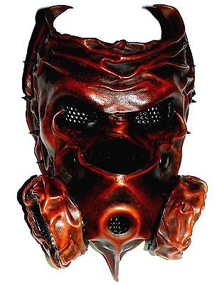 Wearable Leather Mask-Steampunk GOTHIC Metal Bands Theatre-Handmade UK