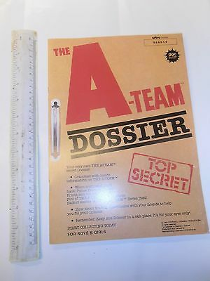 The A Team.dossier.unused Sticker Album With Great Mr T Centre Fold