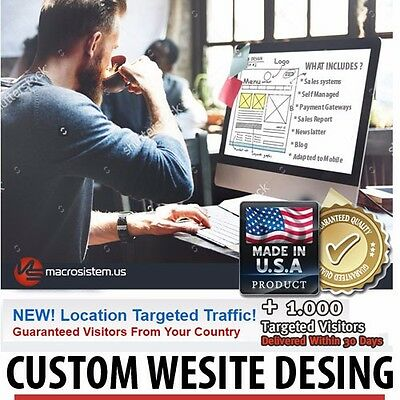 25 Custom Website Design Package + Content Manager & Store! 365 Days Support