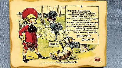 Vintage Buster Brown plaque sign Duece the dog  The Brown shoe co 5 star