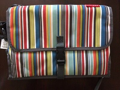 Skip Hop Pronto Baby Diaper Changing Pad Station/Diaper Clutch Striped
