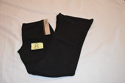 NWT Childs Bloch Kids Black Size Small Dance Pants