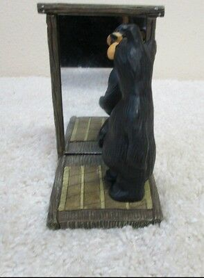 BearFoots Bears Jenny Black Bear Looking In Mirror Big Sky Carvers Limit Edition