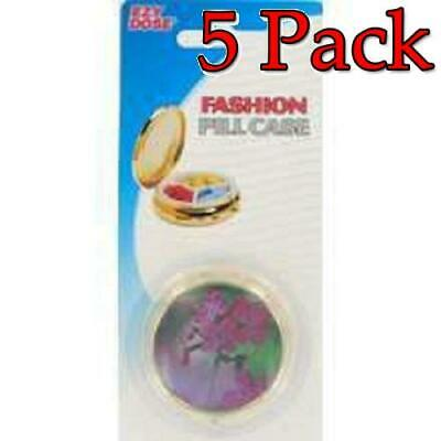 Ezy Dose Fashion Pill Case, Round, 1ct, 5 Pack 025715674094S216