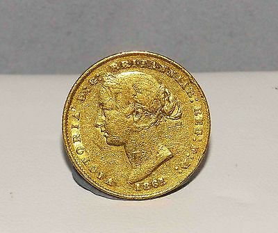 COLLECTORS GRADE 1861 Sydney MINT GOLD SOVEREIGN VF-EF Nice Tones