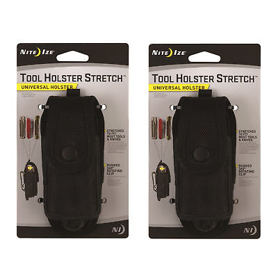 Nite Ize Tool Holster Stretch Universal Multi-Tool/Flashlight Holder Clip 2-Pack
