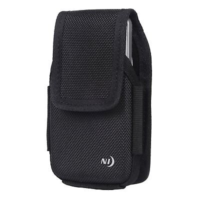 Nite Ize Clip Case Hardshell Holster X-Large Black Rugged Nylon Phone Case Pouch