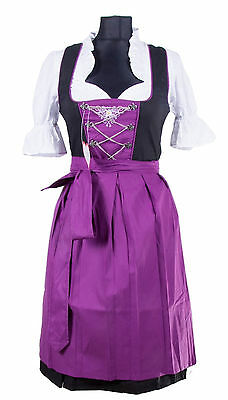 Germany,German,Trachten,Oktoberfest,Edelweiss,Dirndl Dress,3-pc.Sz.2,D-Purple