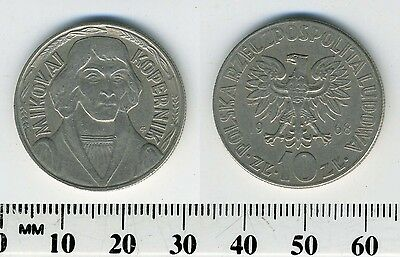 Poland 1968 - 10 Zlotych Copper-Nickel Coin - Mikolaj Kopernik