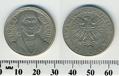 Poland 1969 - 10 Zlotych Copper-Nickel Coin - Mikolaj Kopernik - #2