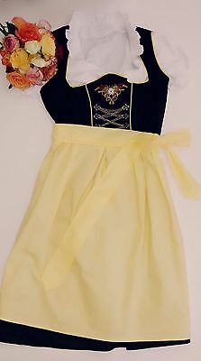 Germany,German,Trachten,Oktoberfest,Dirndl,3-pc.Sz.10,Yellow,Black,White.USA