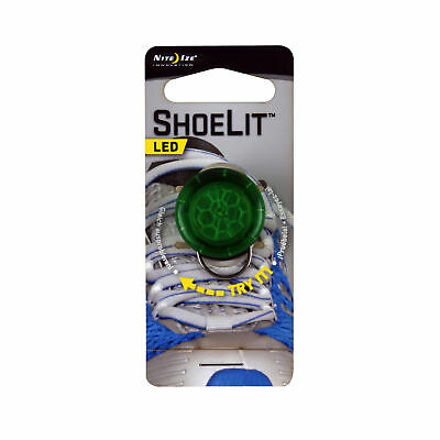 Nite Ize ShoeLit Green LED Shoe Lace Safety Light for Running Jogging Cycling