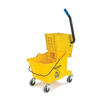 Carlisle 3690804 Mop Bucket with Side Press Wringer 26 Quart Yellow