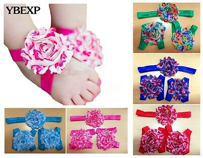 Wholesale 5pcs Baby Infant Headband Foot Flower Elastic Hair Accessories