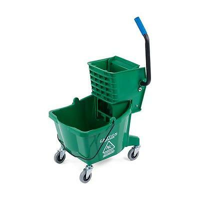 Carlisle 3690809 Mop Bucket with Side Press Wringer 26 Quart Green