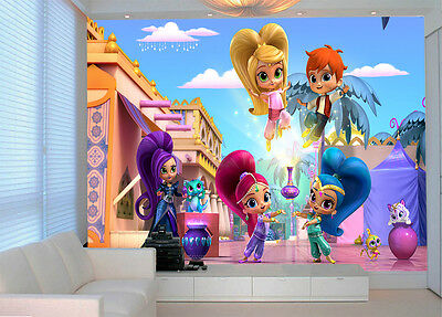HQ Wall Mural Shimmer and Shine Photo Wallpaper Decoration Kids Room Art 51
