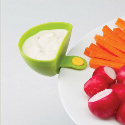 4pcs Set Dip Clip For Food Condiment Sauce Cup Bowls Kitchen Cups Clip
