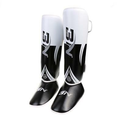 MMA Shin Instep Pads Leg Foot Guards Kickboxing Protector Training Muay Thai
