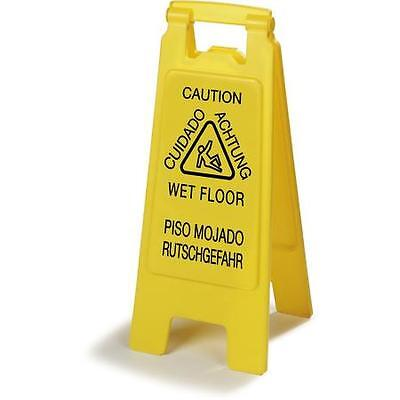 "Carlisle 3690904 Flo-Pac Economy Wet Floor Sign 25"" x 11"" Yellow 6 pack"