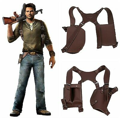 Uncharted 4 A Thief's End Francis Drake Shoulder Holster Gun Cosplay Accessories