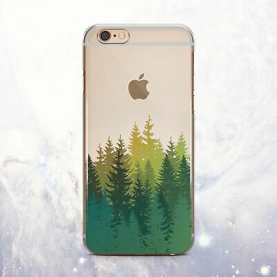 Forest Natural Design Silicone iPhone XS Max Case Cover iPhone 6s 7 8 Plus X XR