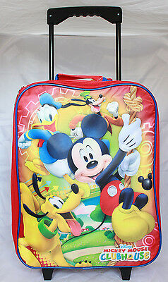 Disney Mickey Mouse Roller Bookbag Rolling Bag Trolley Backpack Wheels Luggage