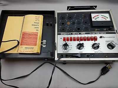 Sencore Mighty Mite VII TC162 Tube Tester- WORKS AND TESTED Free USA Shipping