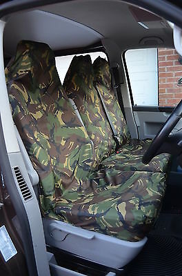Ford Transit 06-13 Mk7 Van Seat Covers Camouflage Dpm Camo Green Heavy Duty 2-1