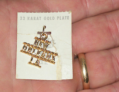 Maisels Trading Post Sterling Silver 23K Gold Plate New Orleans La Charm Jewelry
