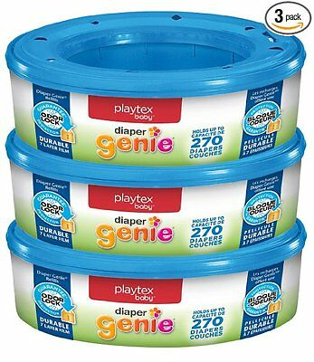 Diaper Pail Refills Odorless Disposable Mini Genie 270 Count Pack of 3