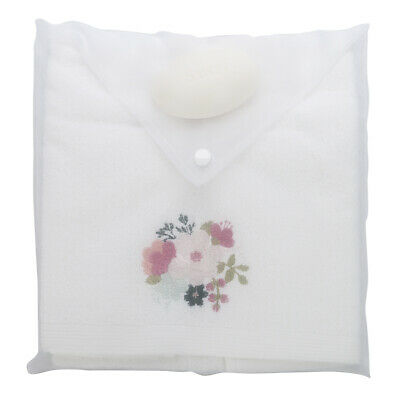 NEW Pilbeam Embroidered Spring Flowers Hand Towel w/ Soap