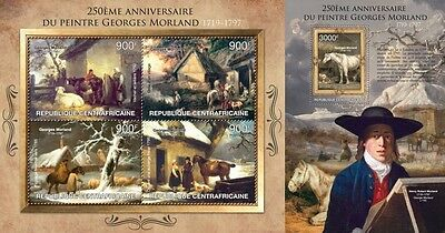 CA13214ab Central África 2013 Georges Morland MNH JUEGO