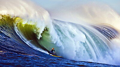 "019 GIANT WAVE - Sea Surfing 24""x14"" Poster"