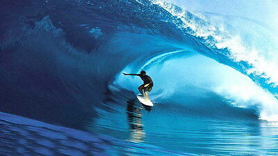 "008 GIANT WAVE - Sea Surfing 24""x14"" Poster"